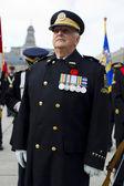 Obraz starszy człowiek w mundurze wojskowym — Zdjęcie stockowe