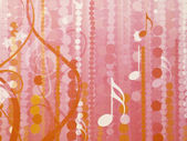 Pink musical abstract wallpaper — Stock Photo