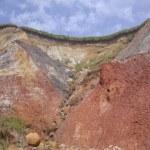 Cliff on marthas vineyard — Stock Photo #19450355