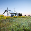 Stock Photo: Abandoned house in field