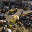 Stock Photo: Mysore markets from above