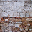 Old tuscan stone wall — Stock Photo