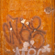 Orange graffitied - Stock fotografie