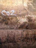 Zeď s graffiti — Stock fotografie