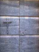 Görüntüyü bir kapı ve haç — Stok fotoğraf