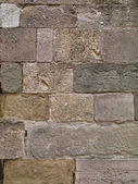 Multiple square and rectangle stone wall — Stock Photo