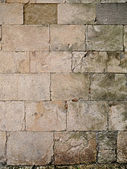 Old european stone block wall — Stockfoto