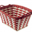 Stripped christmas basket — Stock Photo