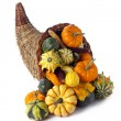 Stock Photo: Cornucopiof gourds