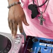 Stock Photo: Dj playing music on machine