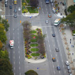 Stock Photo: Elevated view of road junction