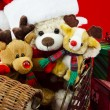 Plush family christmas — Stock fotografie