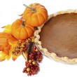 Pumpkins with pumpkin pie — Stock Photo