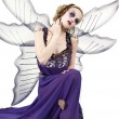 Stockfoto: Womin fairy dress contemplating