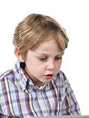 Feche a imagem de uma criança — Fotografia Stock