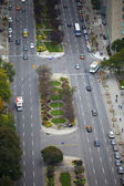 Elevated view of road junction — Stock Photo