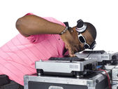 Male dj — Stockfoto