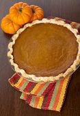 Pumpkin pie on table — Stock Photo