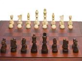 Ahşap satranç seti — Stok fotoğraf