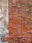 Colorful red brick wall — Stock Photo