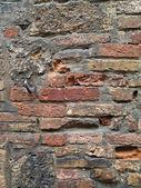 Pocked brick wall — Stock Photo