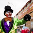 457 view of a man in clowns costume with hand raised — Stock Photo #19839189