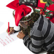 462 african american man writing a letter to santa — Stock Photo