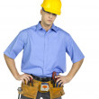 Standing construction worker - Stock Photo