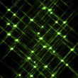 Defocused image of green neon lights — Stock Photo