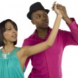 231 dancing young sweet couple — Stockfoto #19844297