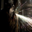 Stock Photo: 344 image of welder cutting metal
