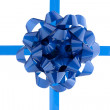 34 blue bow — Stock Photo