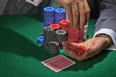 470 jugando al poker — Foto de Stock