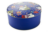 12 christmas cookie tin — Stock Photo