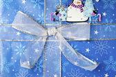Zblízka střílel uzel na vánoční dárek — Stock fotografie