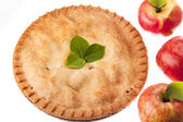 255 close up of apple pie with apples — Stock Photo