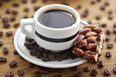 302 coffee drink with beans — Stock Photo