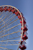 317 low angle view of ferris wheel against clear sky — Stock Photo