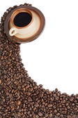 350 coffee beans and coffee — Stock Photo