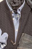Camisa polo marrón — Foto de Stock