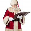 Santa claus with a book — Stock Photo