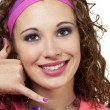 80 s chic girl gestures - Stock Photo