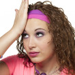 80s girl forgets - Stock Photo
