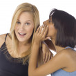 Two girls talking — Stock Photo