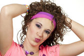 80s girl pout — Stock Photo