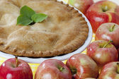 731 close up of a apple pie — Stock Photo