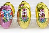 Zavřít obrázek barevné velikonoční vajíčka — Stock fotografie
