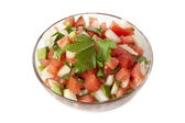 A bowl of pico de gallo — Stock Photo