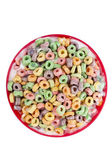 A bowl with colorful cereals with milk — Stock Photo