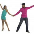 Dancing young couple — Stock Photo